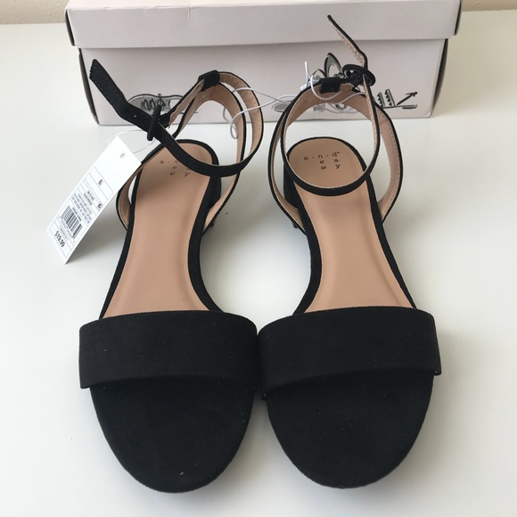 fb53fbdeffe NWB A New Day Winona ankle strap sandals black NWT